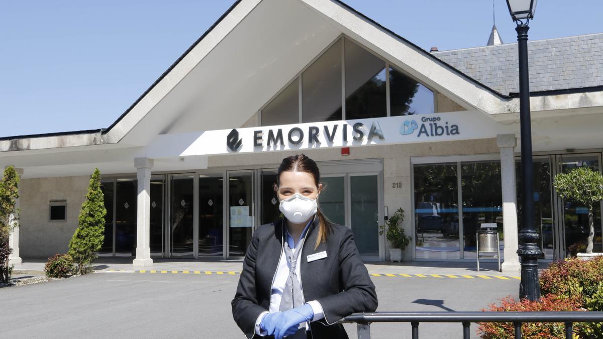Rocío Villar, azafata del tanatorio de Vigo Emorvisa.