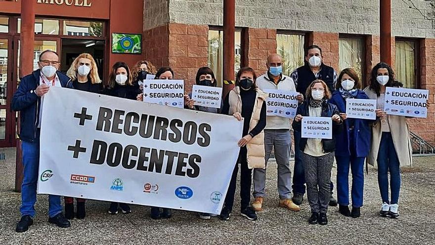 """Protesta docente para reclamar """"más recursos"""""""