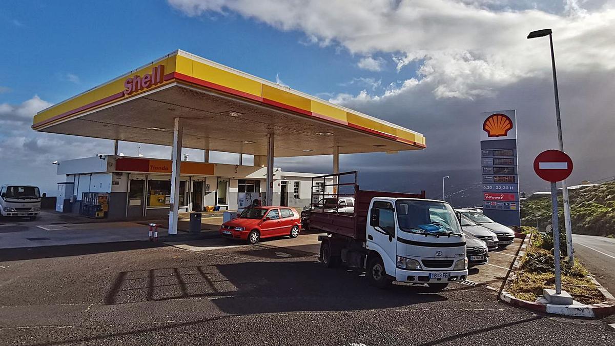 Gasolinera en Puntallana.
