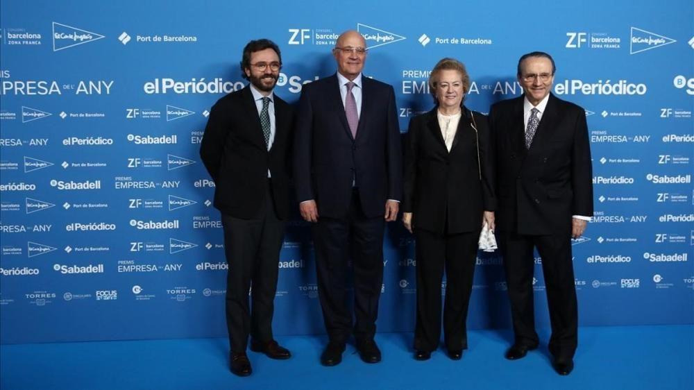 Aitor Moll, Josep Oliu, Arantza Sarasola i Javier Moll.