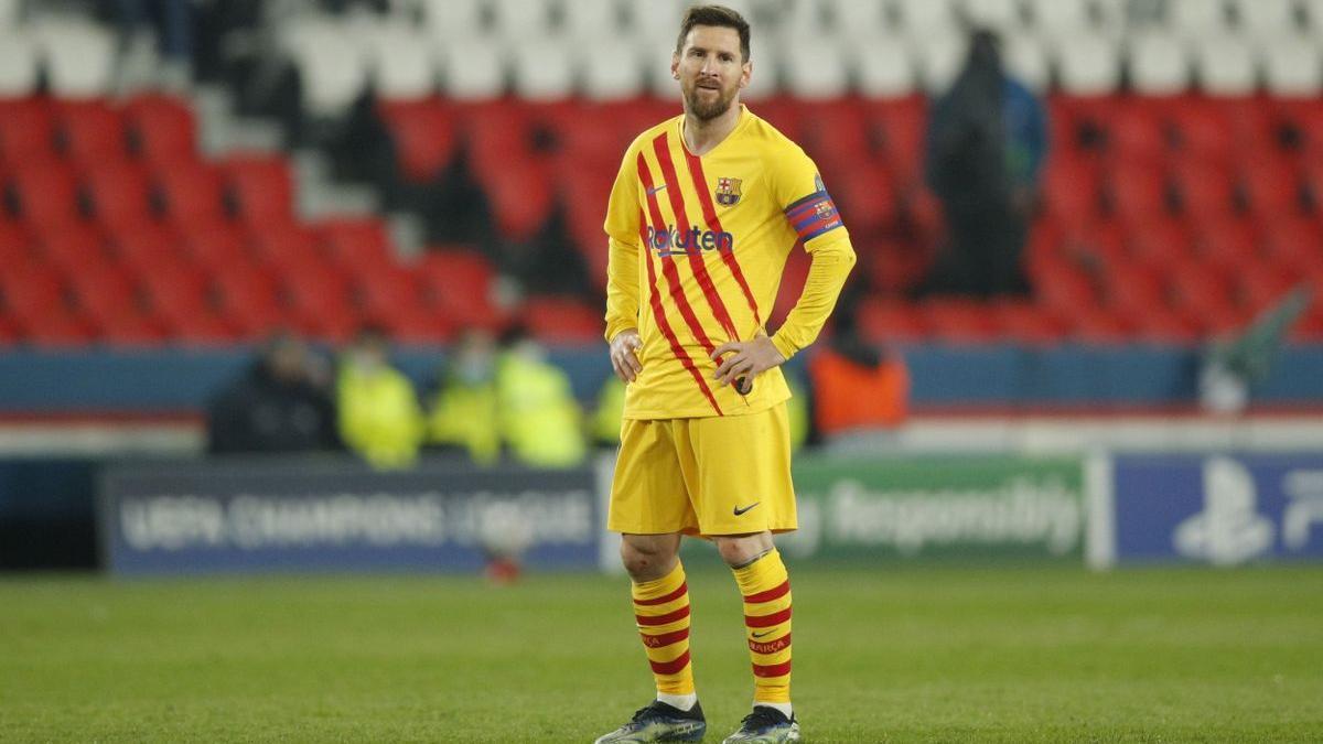 Messi, en un Parque de los Príncipes vacío, esta pasada semana.