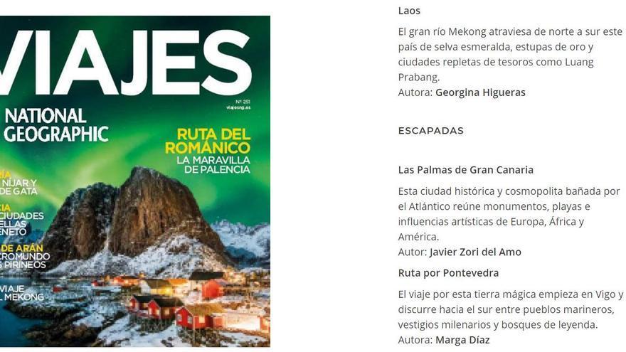 """La capital grancanaria, una ciudad """"vibrante y cosmopolita"""" en el National Geographic"""