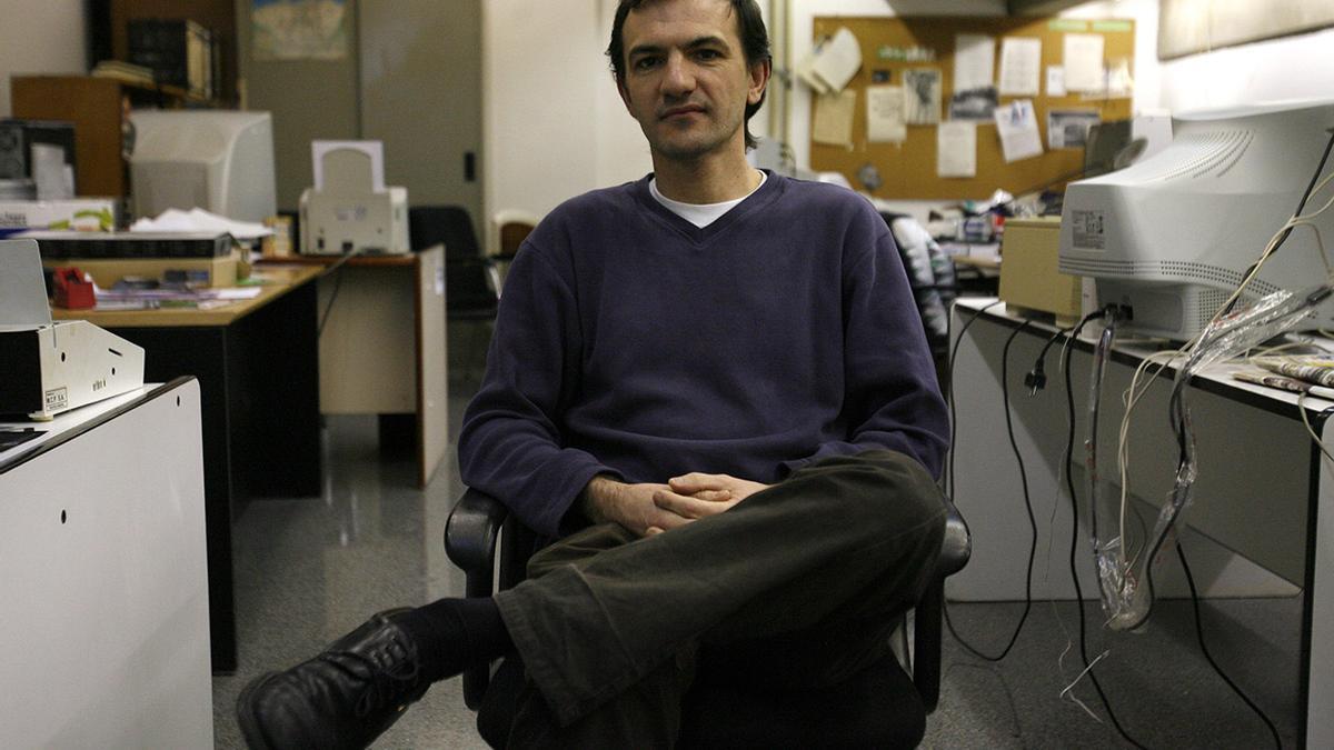 José Ángel Álvarez,  en la Facultad de Económicas.