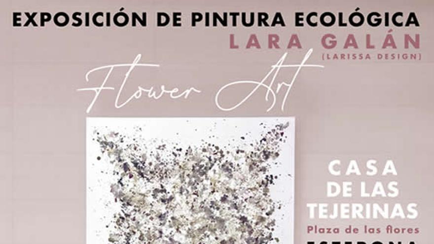 Exposición de pintura ecológica: Flower art de Lara Galán