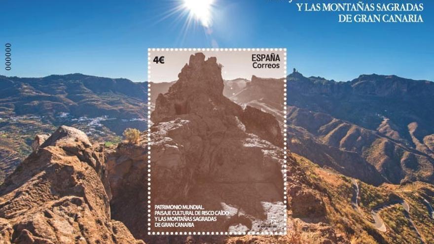 Correos emite un sello de Risco Caído y las Montañas Sagradas de Gran Canaria