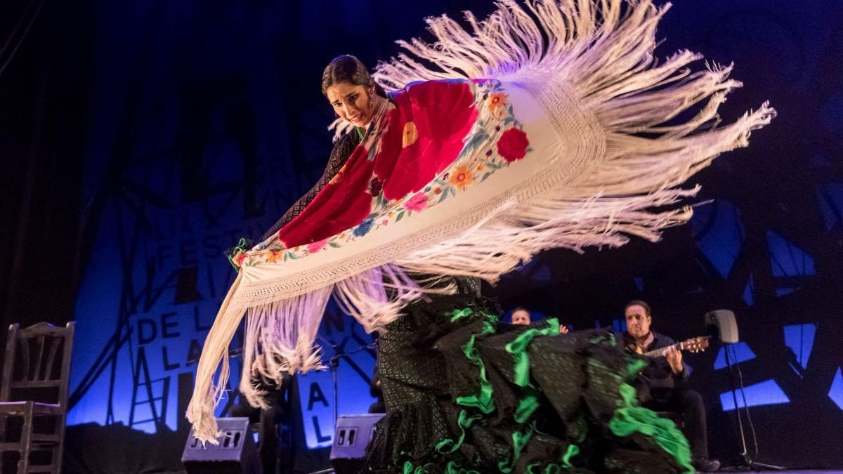 La bailaora catalana Olga Aznar García, premio Desplante del Festival Internacional del Cante de las Minas de la Unión el año pasado.