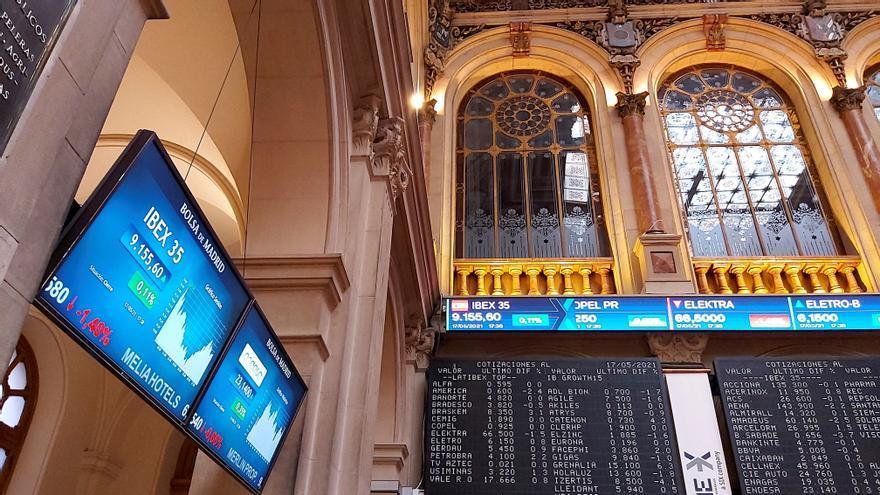El Ibex 35 se queda a las puertas de los 9.200 pese a ganar un 0,31%