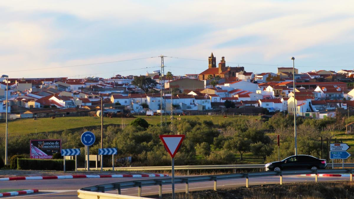 Panorámica del casco urbano de Monesterio