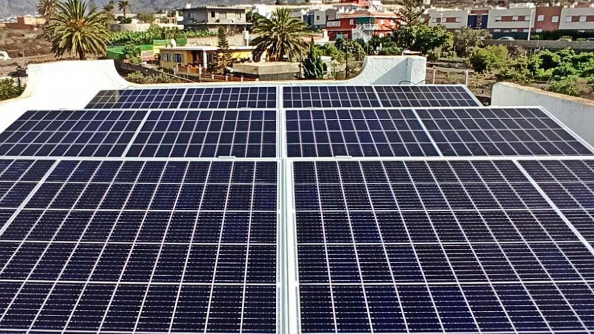 Placas solares en La Palma. | | E.D.