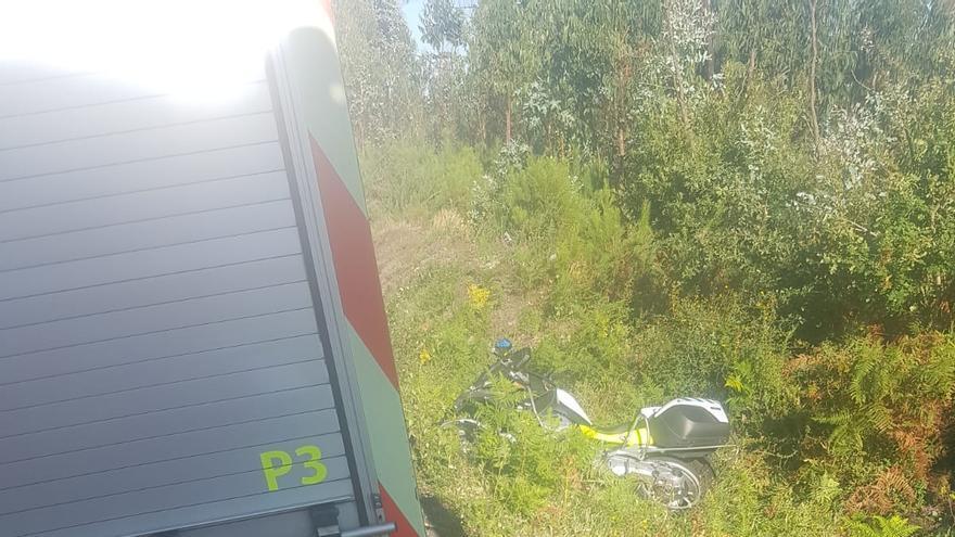 Muere en Catoira un motorista de la Guardia Civil que acudía en auxilio de un accidente