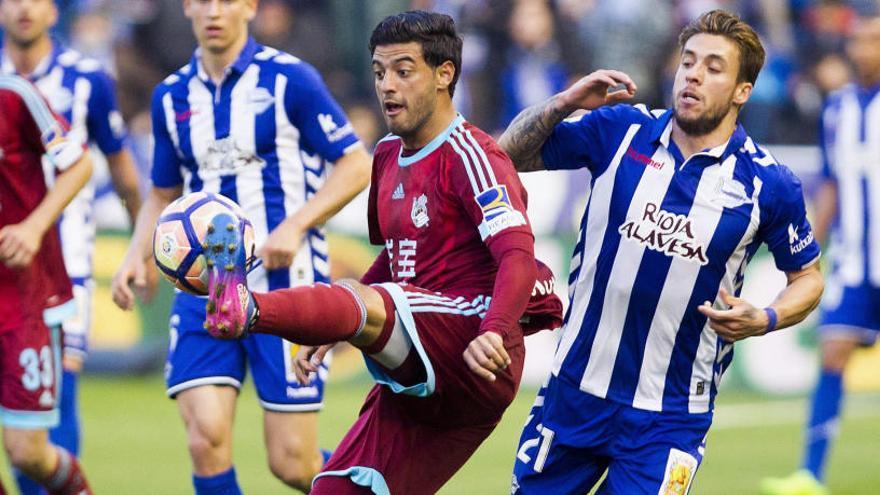 Deyverson da el triunfo al Alavés en el 'derbi' ante la Real Sociedad
