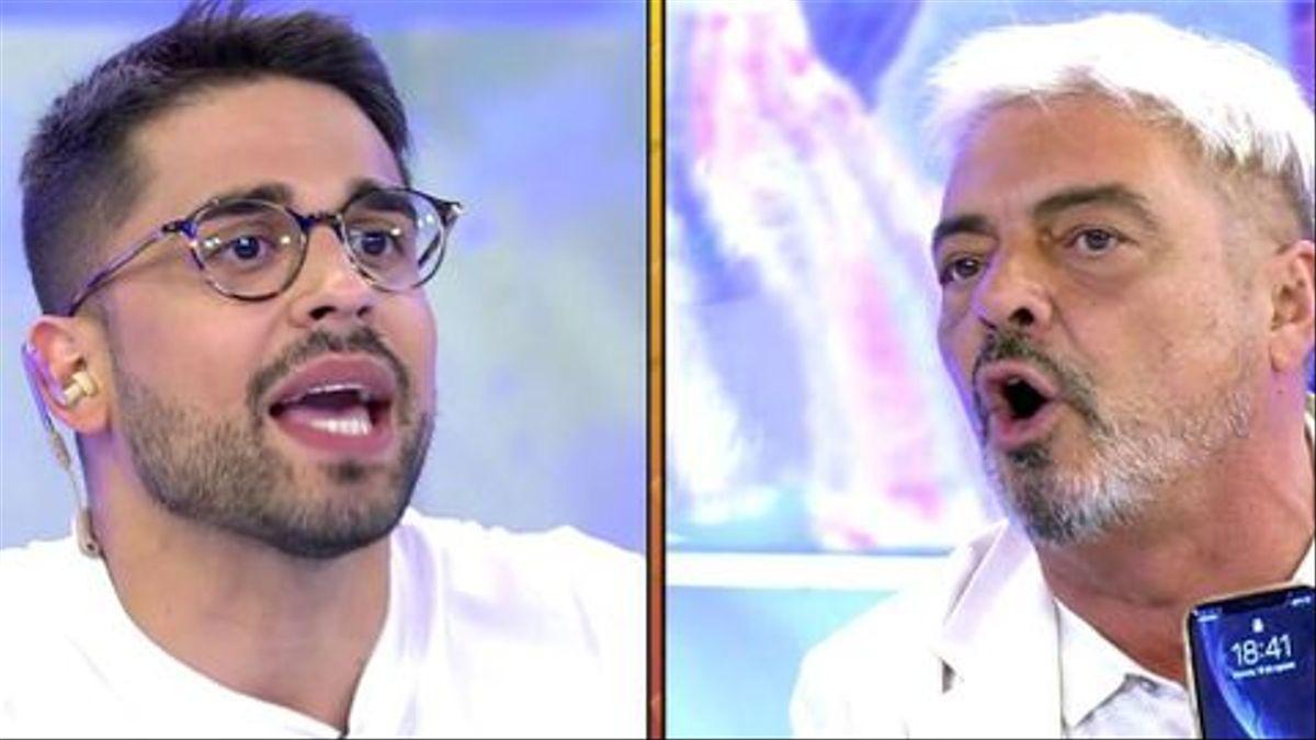 Antonio Canales y Miguel Frigenti, en 'Sálvame'.