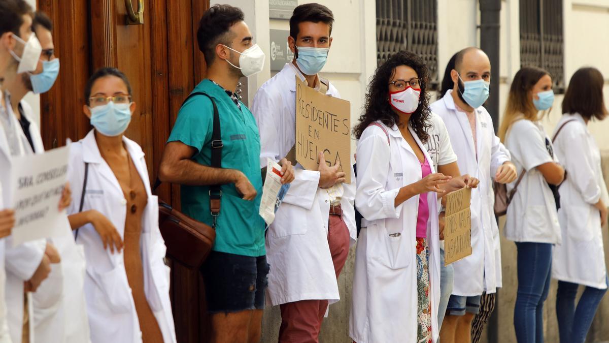 Protesta de los MIR en València