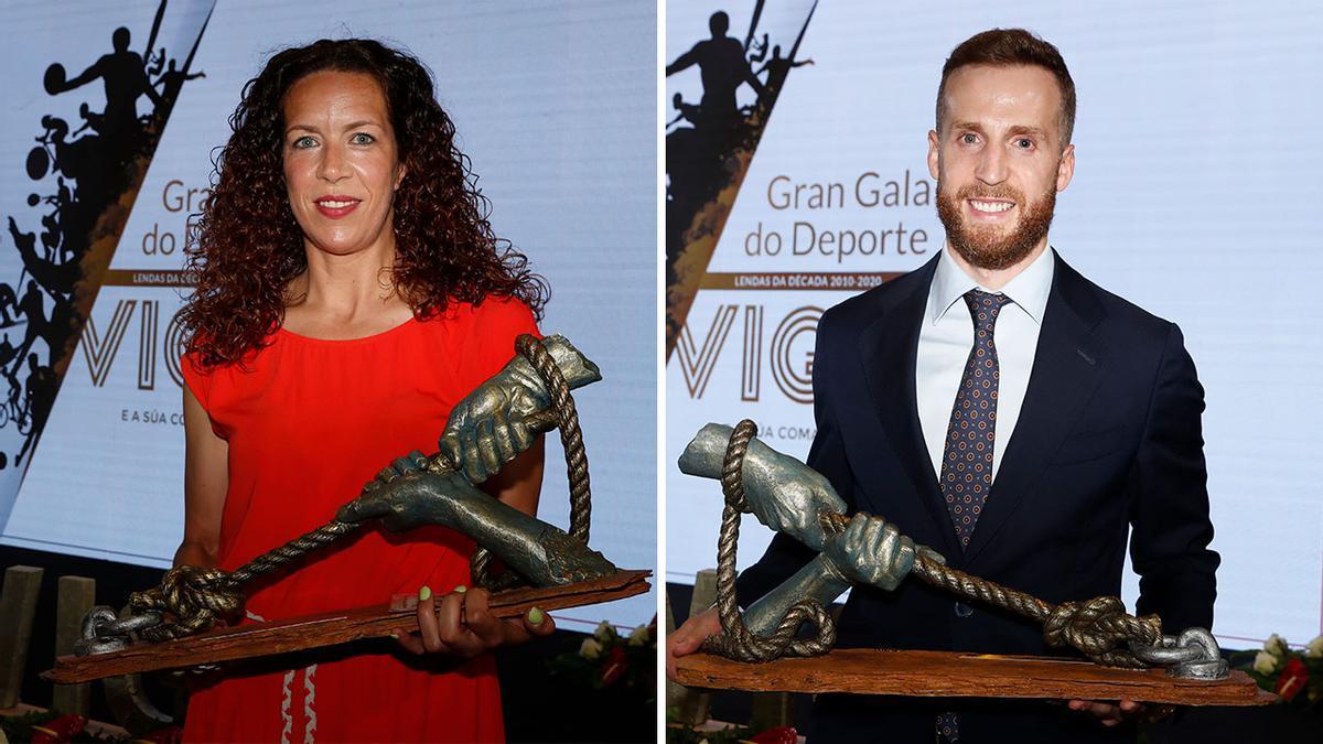 Begoña Fernández y Adrián Alonso, 'Pola', mejores deportistas de la década