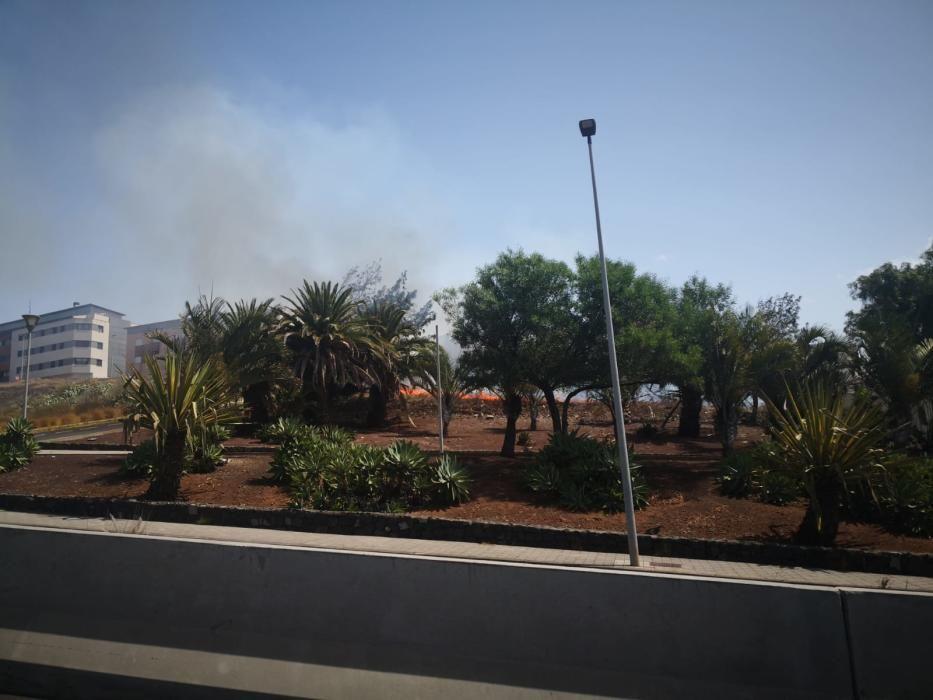Conato de incendio en La Laguna