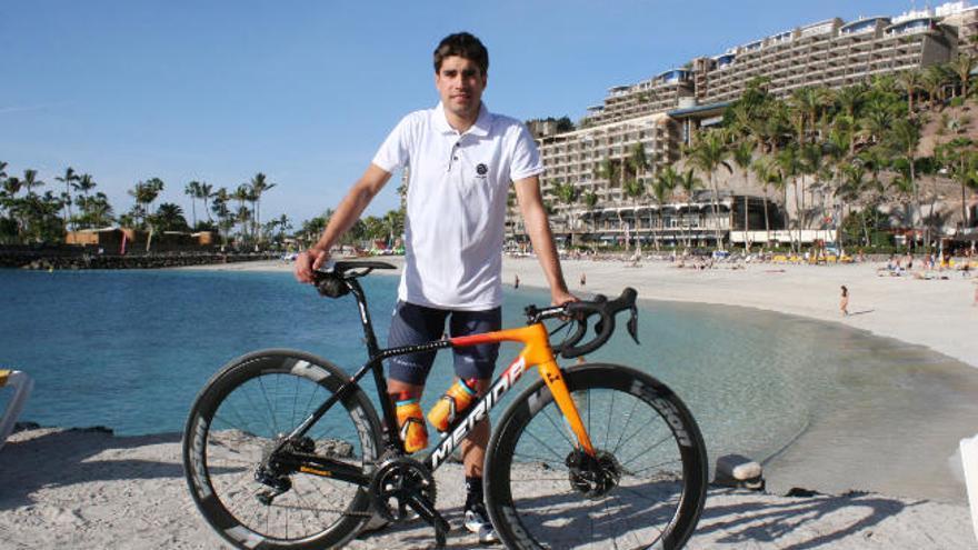 Mikel Landa prepara el Tour en Gran Canaria