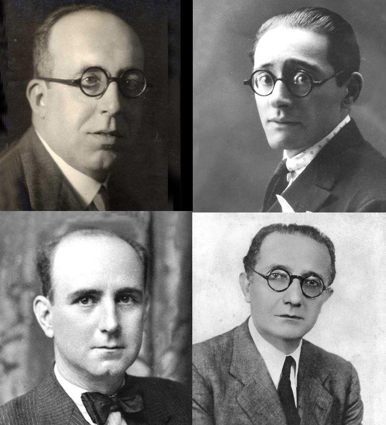 Florentino Cuevillas, R. Otero Pedrayo, Afonso R. Castelao e Vicente Risco