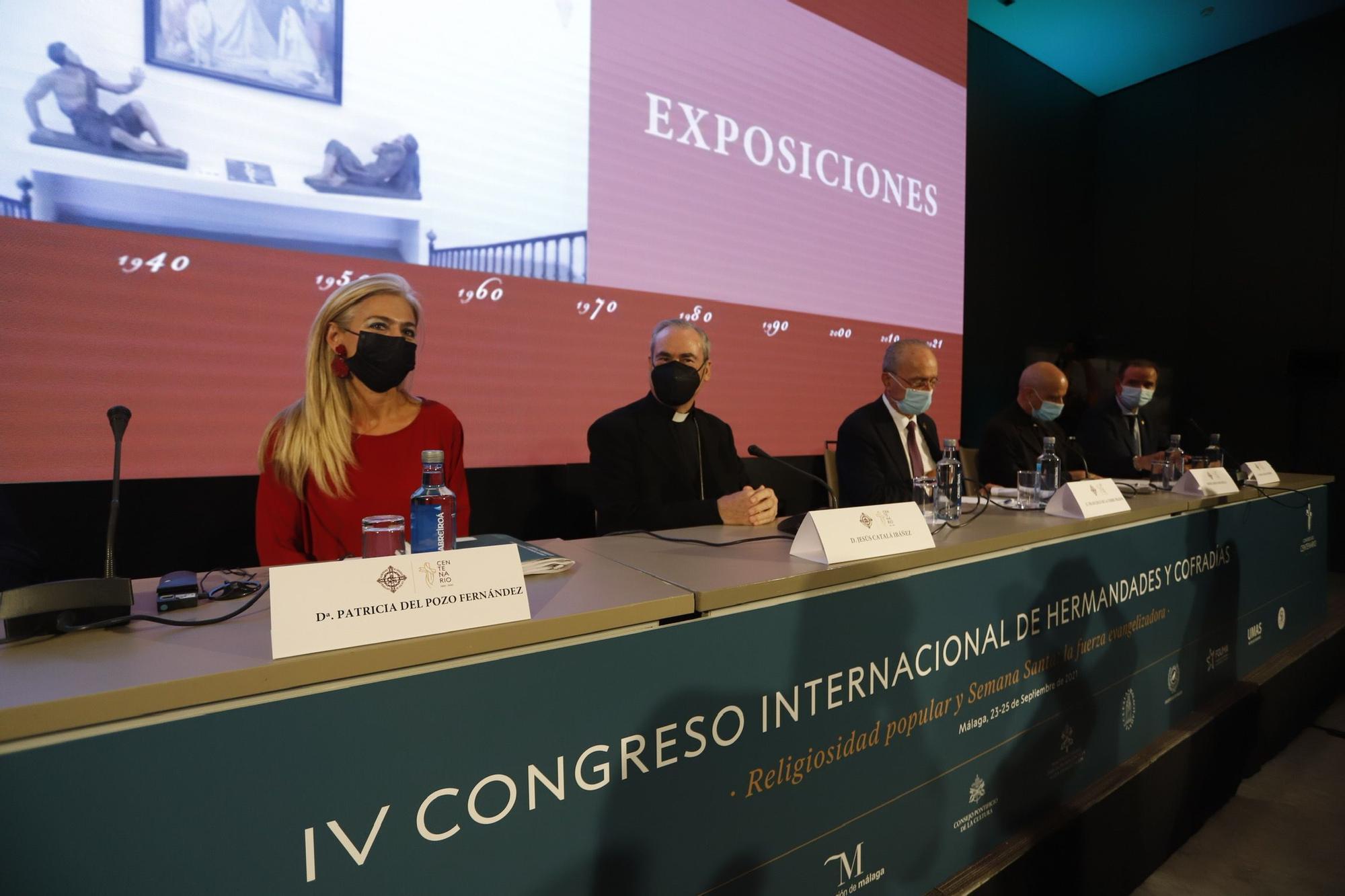 Inauguración del IV Congreso Internacional de Hermandades y Cofradías, que se celebra en Málaga