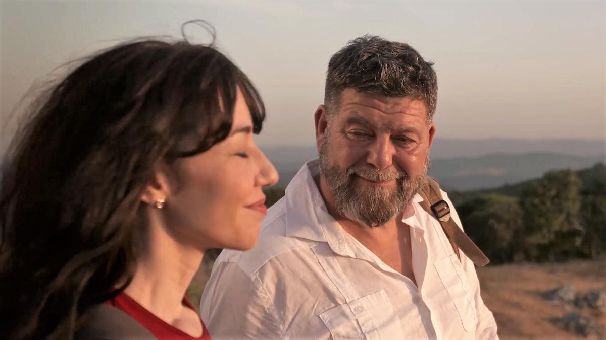 Mario Zorrilla y Emma Caballero en un fotograma del corto