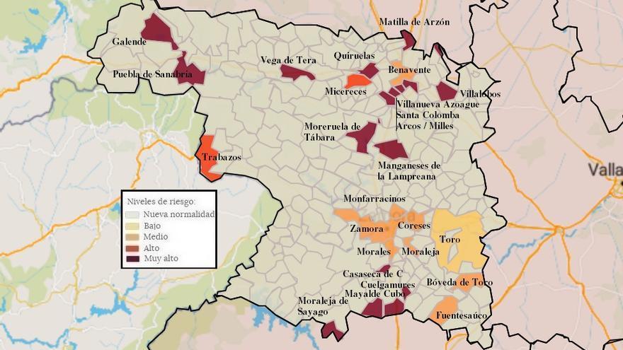 Mapa de coronavirus de Zamora, hoy, miércoles | La incidencia en la capital supera los cien casos por cien mil habitantes