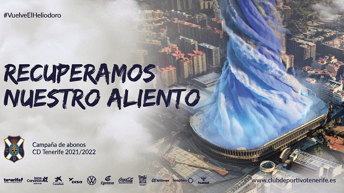 La imagen promocional de la nueva campaña de abonos del CD Tenerife. | | E.D.