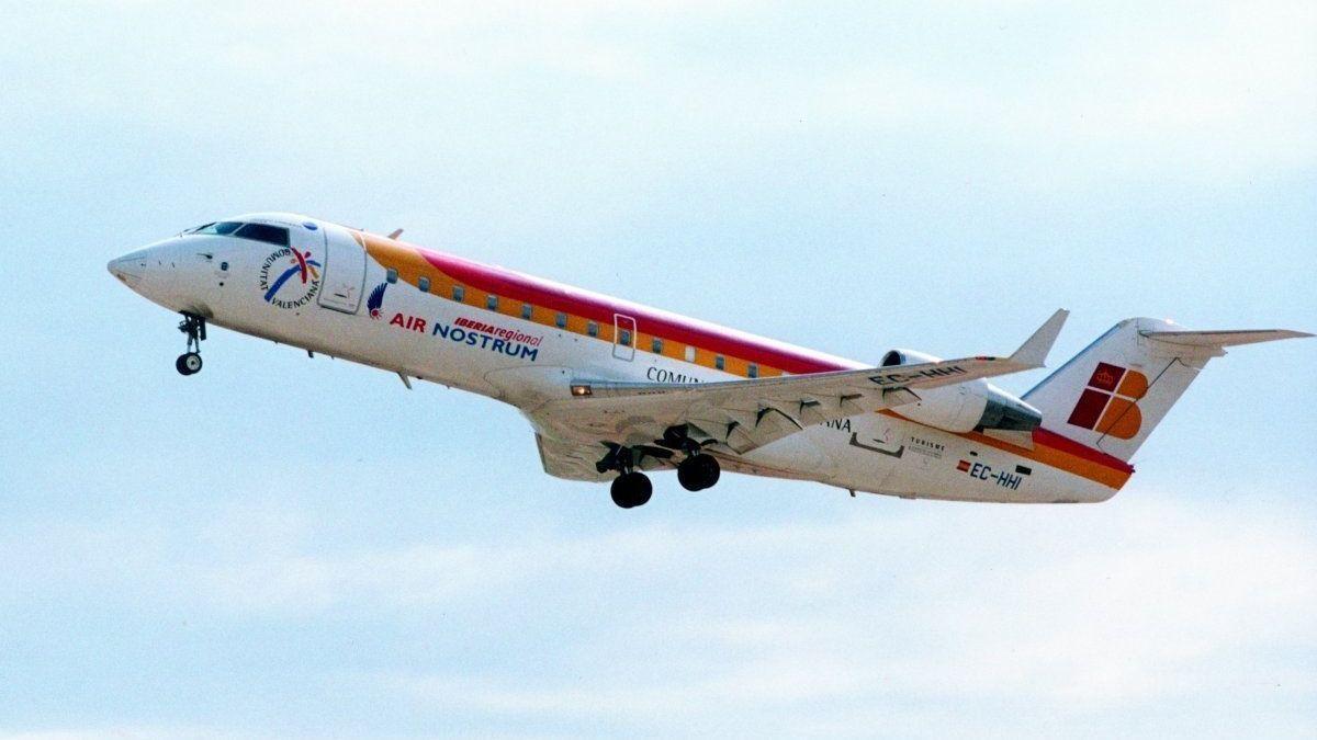 Un avión de Air Nostrum, en una imagen de archivo.
