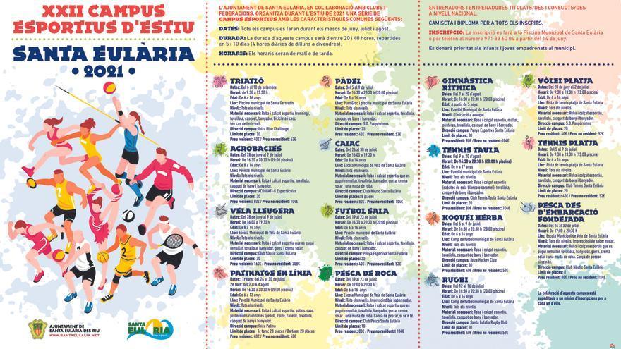 Los Campus Deportivos permitirán a los menores de entre 5 y 16 años divertirse y aprender con alguna de las 15 modalidades que se ofrecen