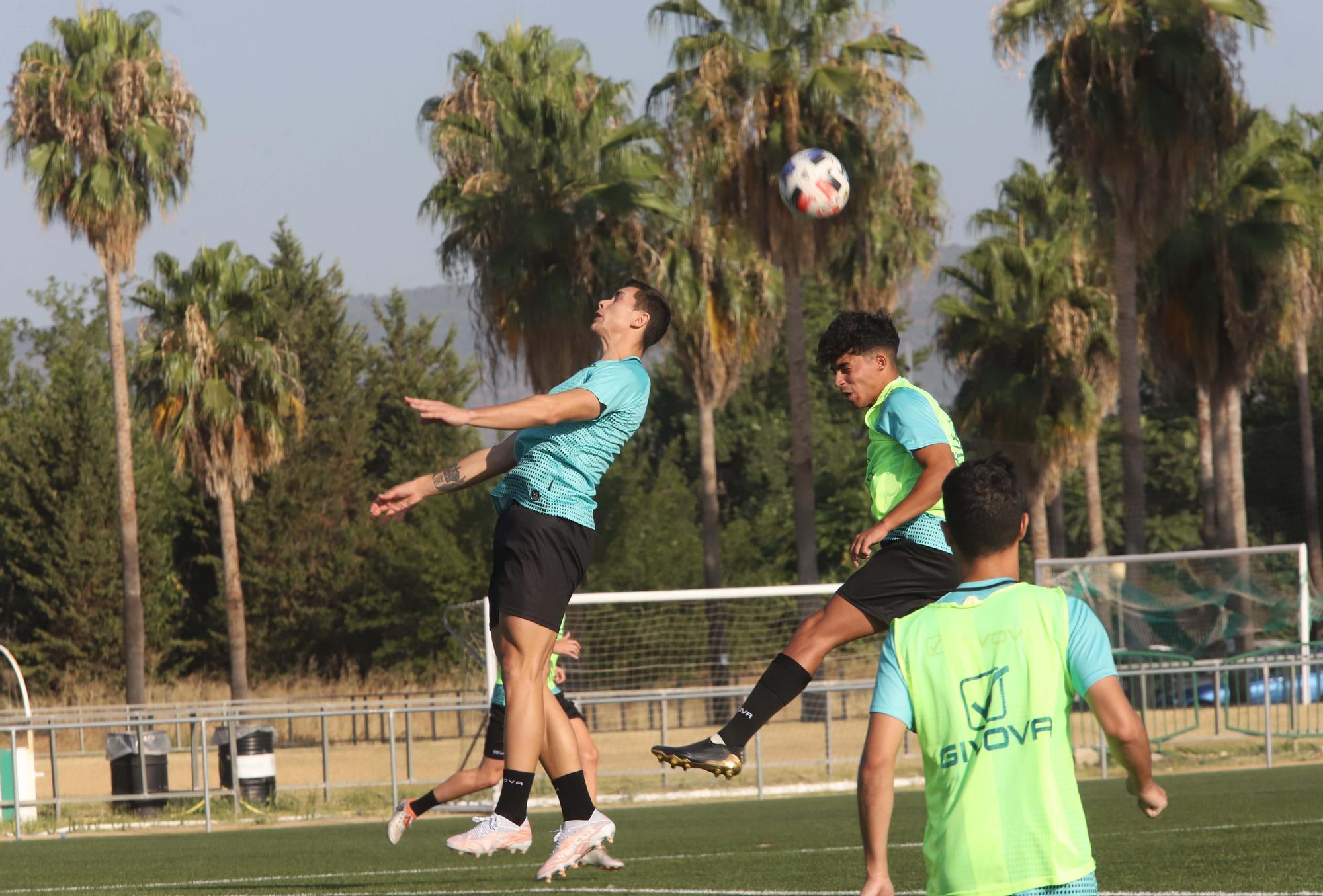 El Córdoba CF se pone a prueba sobre el césped artificial