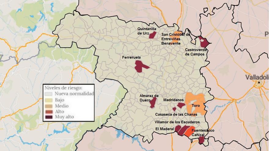 Mapa de coronavirus de Zamora, hoy miércoles | La pandemia estabiliza su expansión