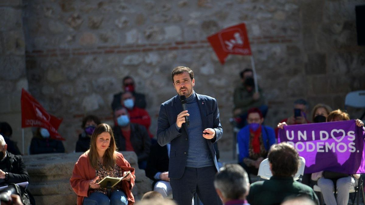 El líder de Izquierda Unida, Alberto Garzón.