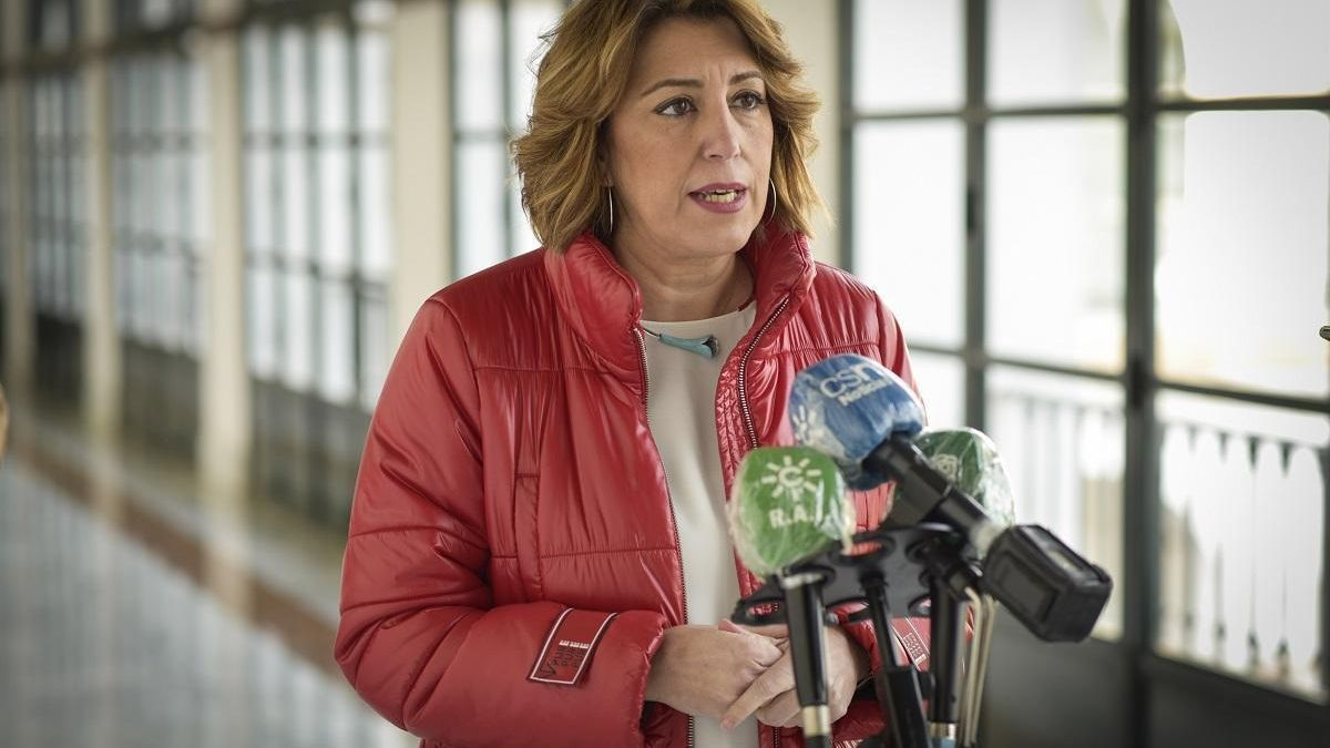 """Susana Díaz denuncia """"la ausencia"""" de Moreno en el Pleno que analiza """"la extrema gravedad"""" de la pandemia"""