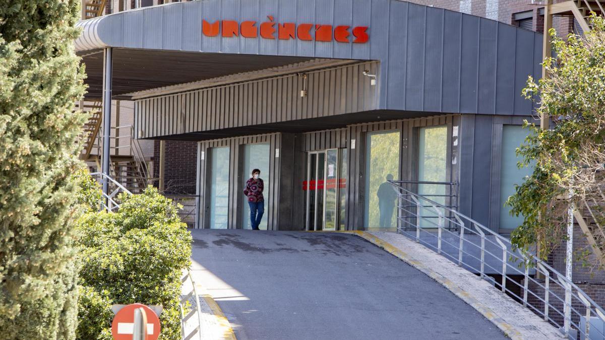 Acceso a las urgencias del hospital Lluís Alcanyís de Xàtiva en una imagen de días atrás