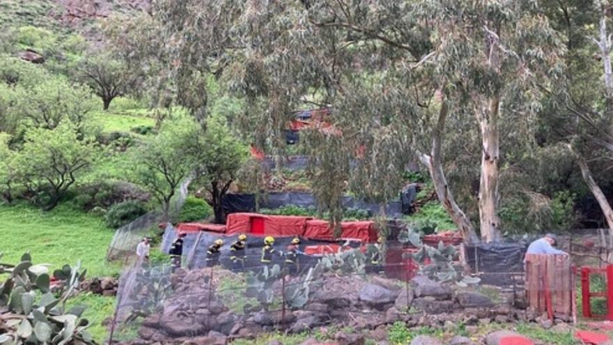 Rescatan el cadáver de un hombre en una cueva en Guayadeque