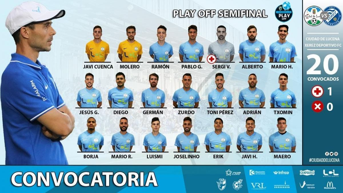 El Ciudad de Lucena viajará con 20 futbolistas a Marbella