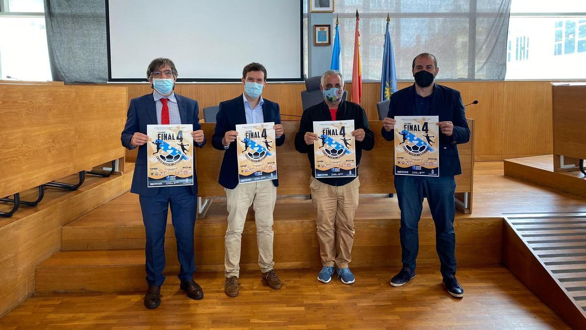 Alberto González, Bruno López, Eugenio González y Óscar Fernández en la presentación del evento.