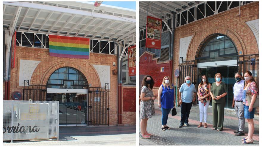 Segundo episodio de LGTBIfobia en Castellón: arrancan la bandera arcoíris del mercado de Burriana