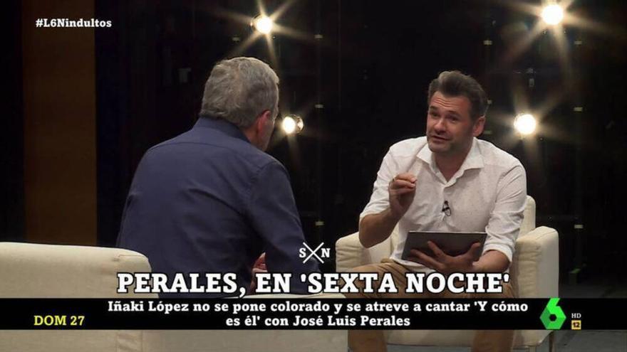 """Iñaki López y su divertido momento con José Luis Perales: """"Tu tono es fantástico, pero para ti solo"""""""