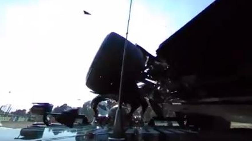 Increíble vídeo en 360 grados del accidente entre Hamilton y Verstappen en Monza