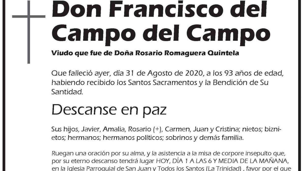 Francisco del Campo del Campo