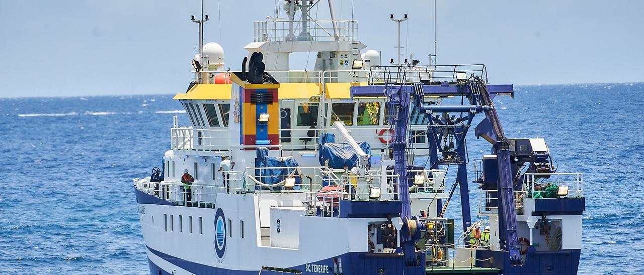 Una imagen del buque oceanográfico Ángeles Alvariño.