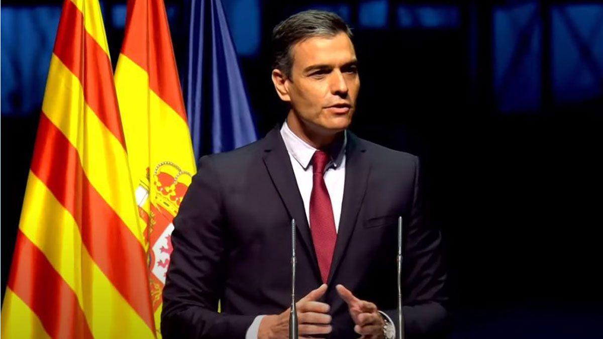 Pedro Sánchez, en su conferencia en el Liceu, este lunes.