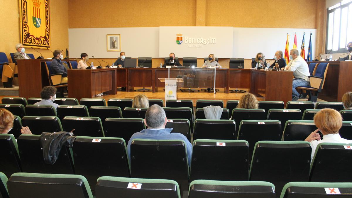 Imagen del pleno de Benicàssim celebrado este viernes.