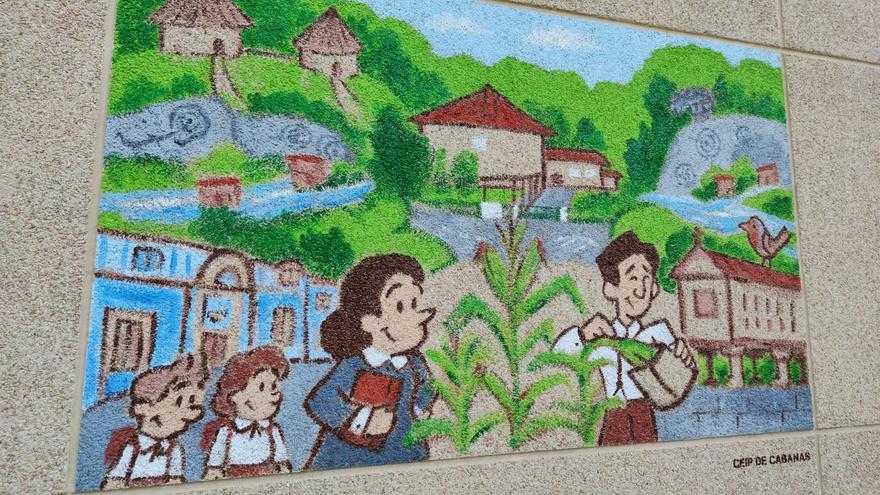 Ernestina Otero y Cruz Gallástegui, protagonistas del mural del CEIP Canabas