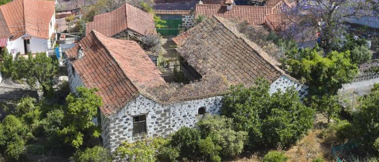 Vista del cuartel de El Colmenar que se encuentra en el barranco de San Miguel, en Valsequillo. | | ANDRÉS CRUZ