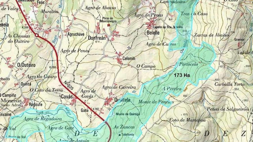Petón do Lobo propone que la protección de la Fraga de Catasós abarque 173 hectáreas