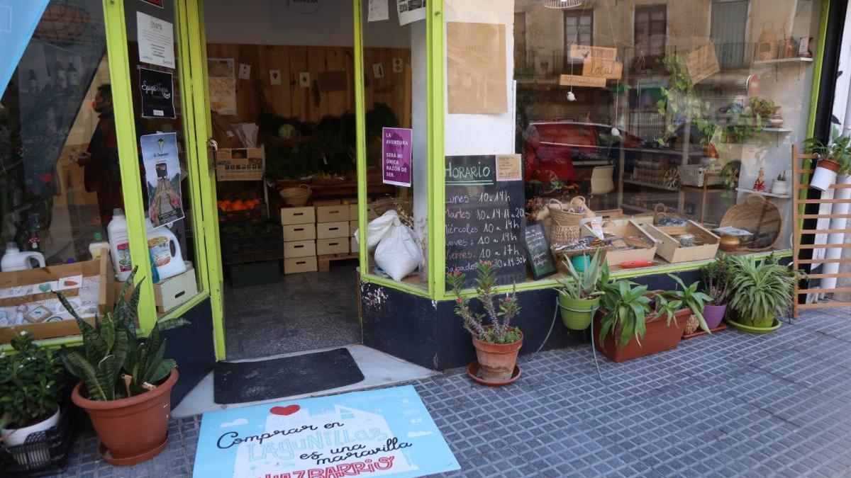 Imagen de uno de los comercios de Lagunillas incluidos en la campaña comercial del Ayuntamiento de Málaga.