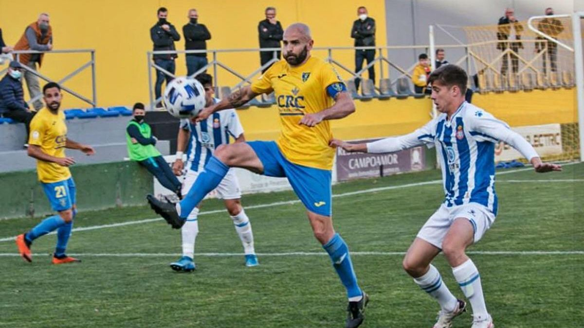 Chechu Flores, en acció el passat cap de setmana en un Oriola-Espanyol B.
