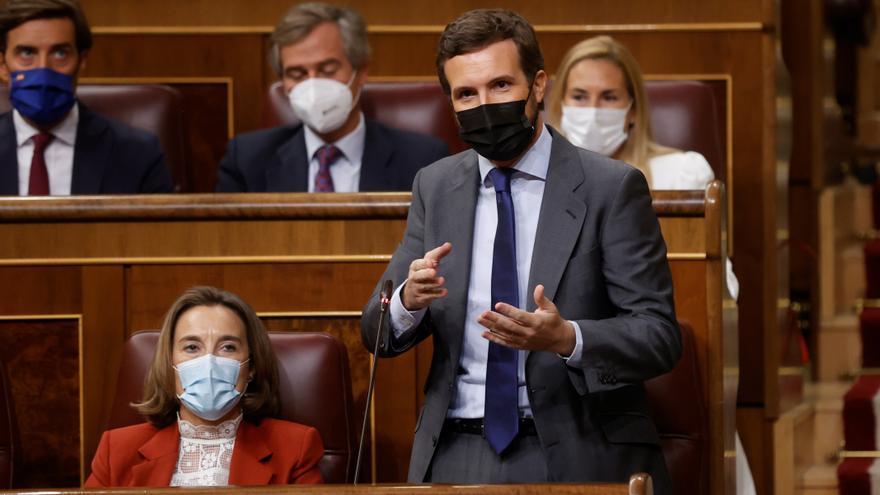 """Casado ataca a Sánchez en el Congreso con el caso Gali: """"Váyase, señor Sánchez"""""""