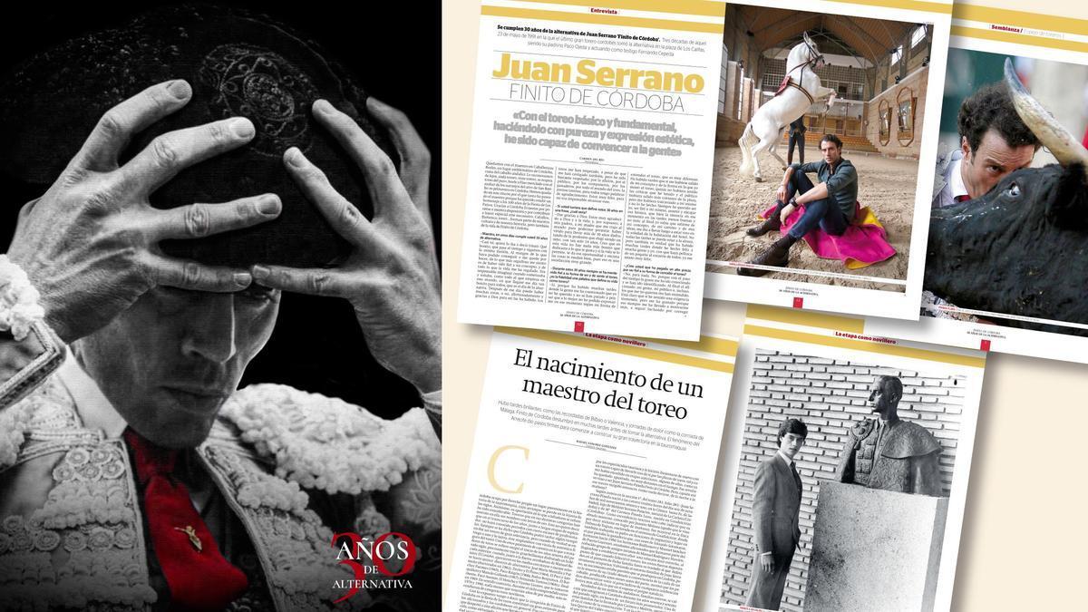 Montaje de la revista de diario CÓRDOBA sobre la alternativa de Finito