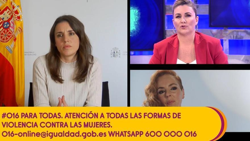 """Irene Montero sobre la docuserie de Rocío Carrasco: """"Necesitamos un periodismo que legitime y acompañe a las mujeres maltratadas"""""""